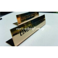 Display Tag Gold Gloss 2D Etching LT/GG_01