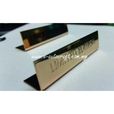 Display Tag Gold Gloss 2D Etching LT/GG_02