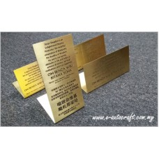 Display Tag Gold  2D Etching Polishing Hairline LT/GPH_01