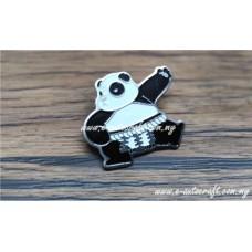 Collar Pin Silver Gloss 2D Etching CP/SG_05