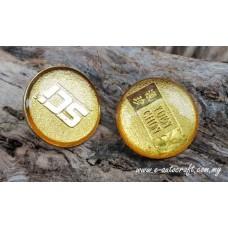 Collar Pin Gold Matt 2D Etching