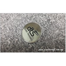 Collar Pin Silver Gloss 2D Etching