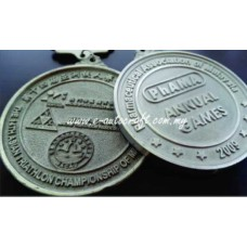 Hanging Medal 2D Relief Pewter 2D Etching HM/RP_01