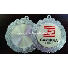 Hanging Medal 2D Relief Pewter Semi Color Printing HM/RP_03