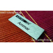 Name Tag Stainless Steel Natural Hairline2D Etching