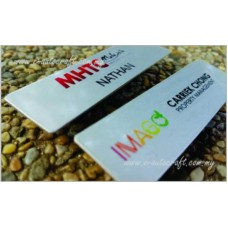 Name Tag AlumSemi Color Printing