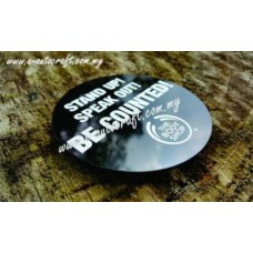 Badge Plastic NPT Semi Color Printing