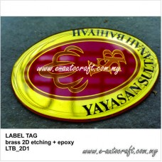 Label Tag Brass 2D Etching Gold Gloss LT/GG_02