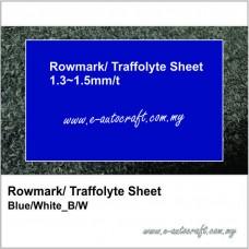 Rowmark/ Traffolyte Sheet<BR> Blue/White_DB/W (809)
