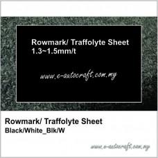 Rowmark/ Traffolyte Sheet Black/White_ B/W
