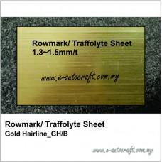 Rowmark/ Traffolyte Sheet Gold Hairline/Black_GH/B