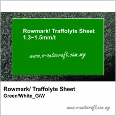 Rowmark/ Traffolyte Sheet Green/White_G/W