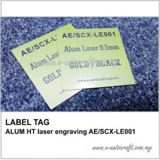 LABEL TAGALUM HT laser engraving AE/SCX-LE001