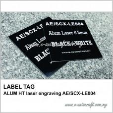 LABEL TAGALUM HT laser engraving AE/SCX-LE004