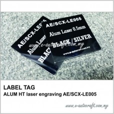 LABEL TAG ALUM HT laser engraving AE/SCX-LE005