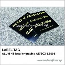 LABEL TAG ALUM HT laser engraving AE/SCX-LE006