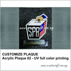 CUSTOMIZE PLAQURacrylic clear + uv full color printing