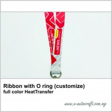 Ribbon with O ring (customize) full color HeatTransfer