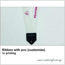 Ribbon with pvc (customize) 1c printing