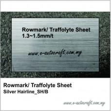 Rowmark/ Traffolyte Sheet Silver Hairline/Black_SH/B