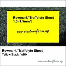 Rowmark/ Traffolyte Sheet Yellow/Black_Y/B (807)