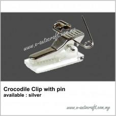 Crocodile Clip with Pin