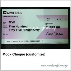 Mock Cheque (customize)
