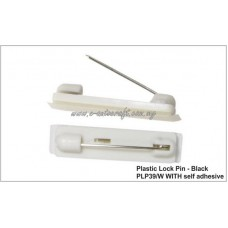Plastic Lock Pin (white) PLP39/W with self adhesive
