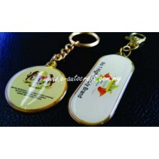 Key Chain Gold Gloss Full Color Printing