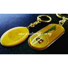 Key Chain Gold Matt 2D Etching