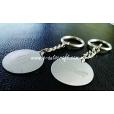 Key Chain Silver Gloss 2D Etching