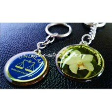 Key Chain Silver Gloss Semi Color Printing