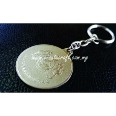 Key Chain Silver Matt 2D Etching