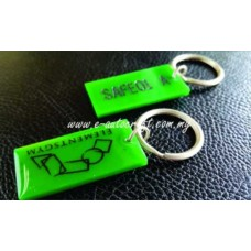 Key Chain Acrylic Semi Color Printing