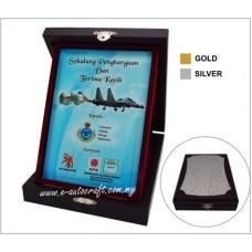 Batik Acrylic Box With Crystal Glass NC8190