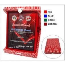 Songket Box With Crystal Glass NC8082