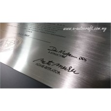 Customize Plate 2D Etching Silver Polishing Hairline Plaque/SPH_01