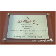 Customize Acrylic Plaque  Semi Color Printing  Plaque/NPT_02