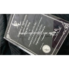 Customize Acrylic Plaque  laser engraving Plaque/NPT_01