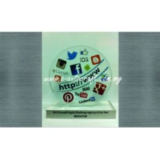 Customize Acrylic Plaque UV Full Color Printing Plaque/AC_01