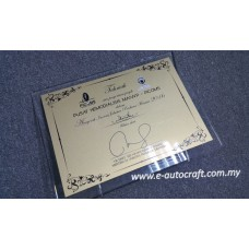 Customize Acrylic Plaque  Semi Color Printing  Plaque/NPT_03